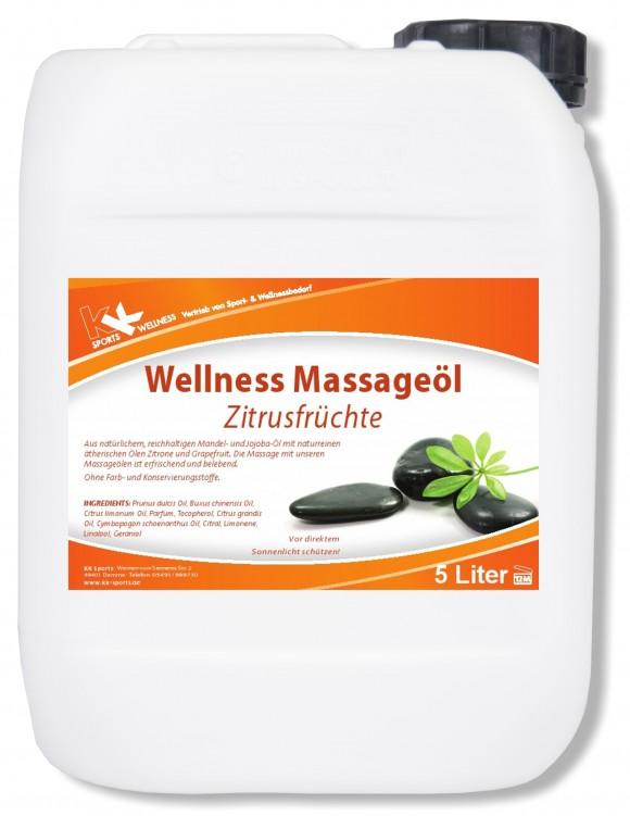 KK Wellness Massageöl Zitrusfrüchte 5 Liter Kanister