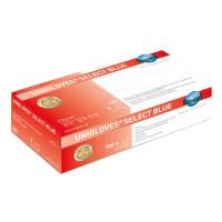 Unigloves SELECT BLUE   Latexhandschuh S-XL   100 Stück/Box Box mit 100 St. / 5-6 x-small