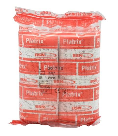 Platrix® Gips Binde 5 cm x 3 m Packung mit 4 Rollen