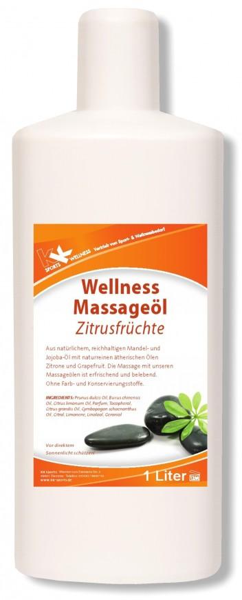 KK Wellness Massageöl Zitrusfrüchte 1 Liter Flasche