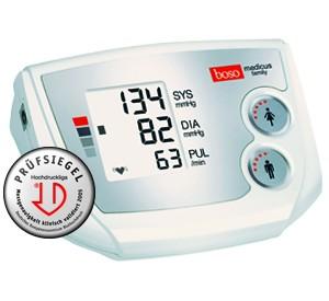 Boso medicus family digitales Blutdruckmessgerät mit Zugbügel-Klettenmanschette