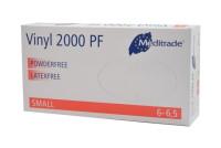 Meditrade Vinylhandschuhe VINYL 2000 PF | XS - XL | 100 Stück/Box 5-6 x-small / Box mit 100 St.