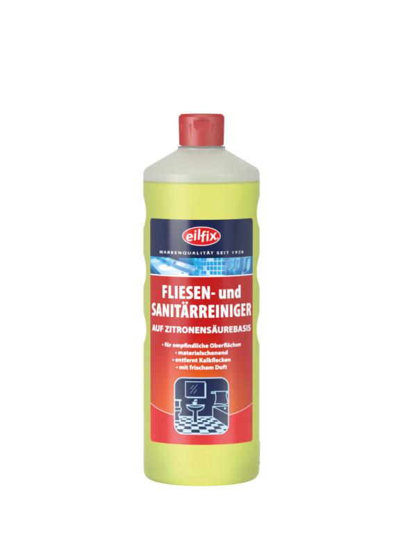 Eilfix Fliesen- und Sanitärreinger   Auf Zitronensäurebasis   1 Liter Flasche