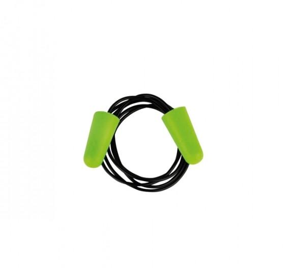 Pro-Fit® Gehörschutzstöpsel Soft-PU mit Kordel Grün 200 Paar/Beutel