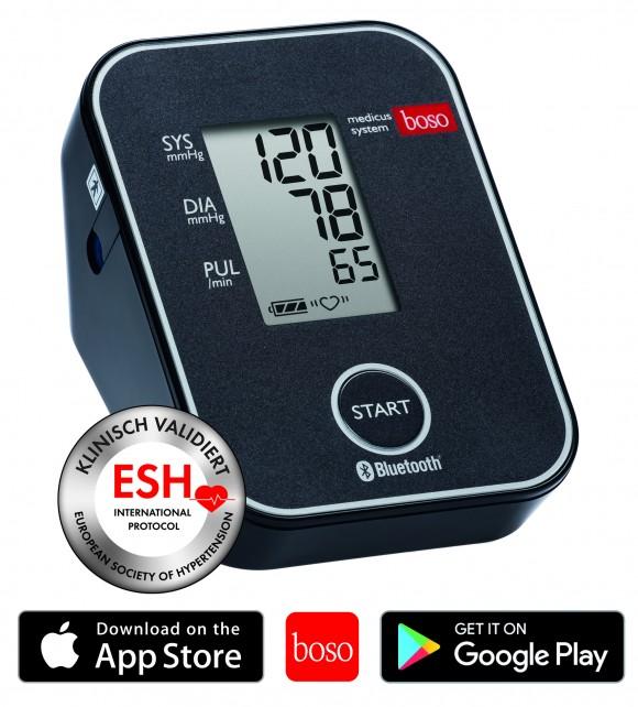 boso medicus system | Wireless Oberarm-Blutdruckmessgerät | Manschette 22-42 cm