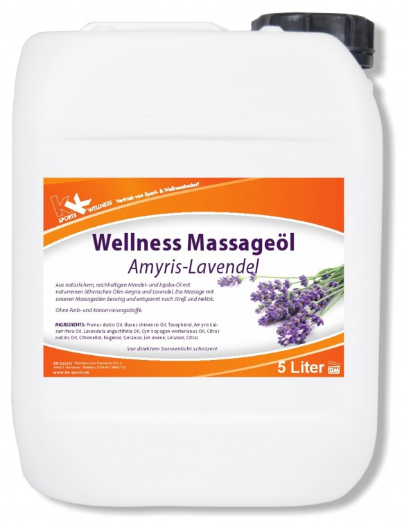 KK Wellness Massageöl Amyris-Lavendel 5 Liter Kanister