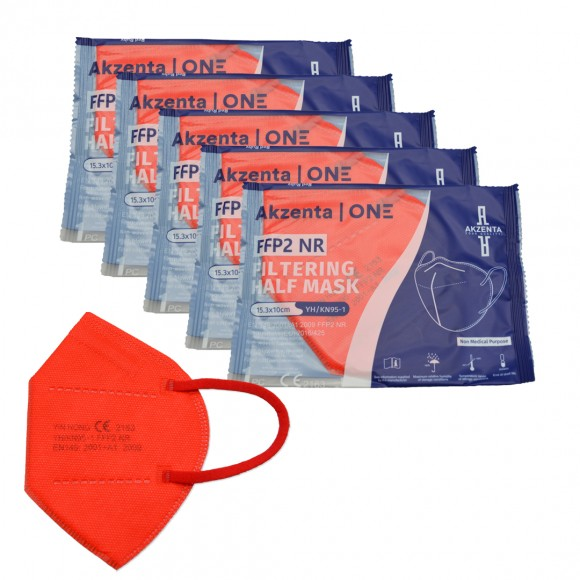 Feinstaubmasken FFP2   Bunt   CE-zertifiziert   5 Stück   ohne Ventil
