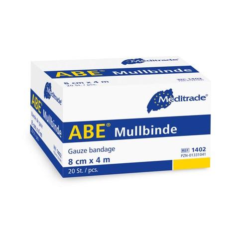 ABE® Mullbinde | 8 cm x 4 m | 20 Stück/Packung
