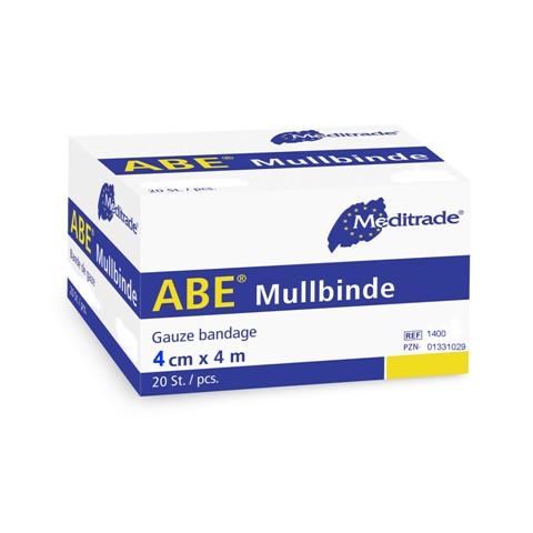 ABE® Mullbinde | 4 cm x 4 m | 20 Stück/Packung