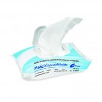 Meditrade Medizid® Alpha+ Flowpack   Alkoholfreie Desinfektionstücher   80 Tücher