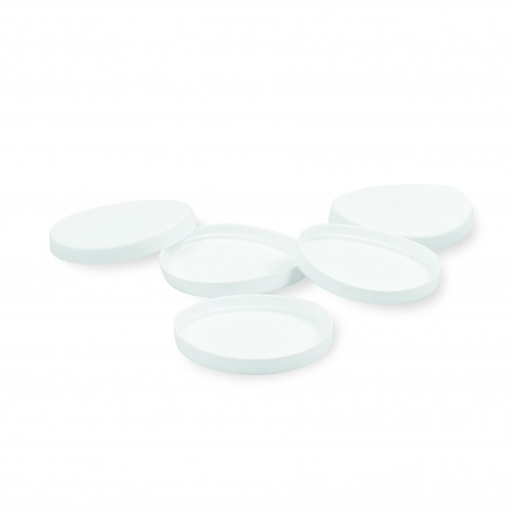 Medizinbecherdeckel | Verschluss für 30 ml Medizinbecher | Weiß | 750 Stück/Packung