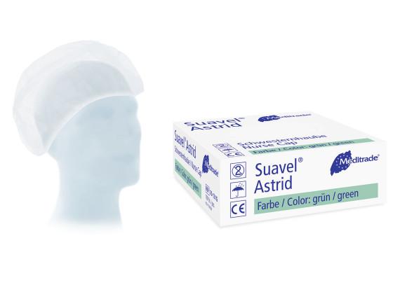 Suavel® Astrid   Universelle Baretthaube   Grün   100 Stück/Packung