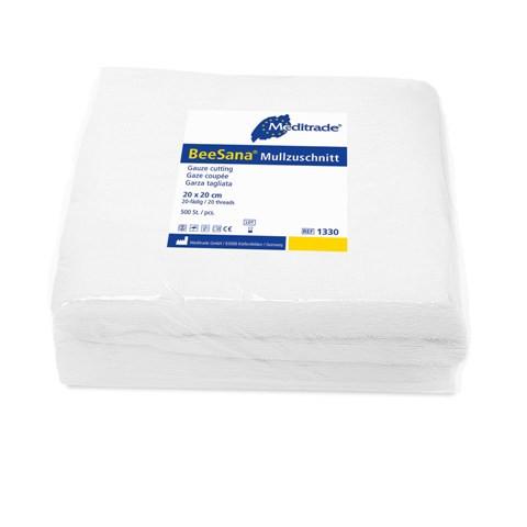BeeSana® Mullzuschnitt | 20 x 20 cm | 500 Stück/Packung