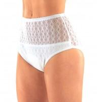 Suprima   Baumwoll-Slip   Damen   Größe 34-54   mit Spitze   Weiß   1240 28