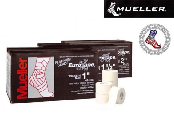 Mueller Platinum Grade Eurotape Sporttape Weiß 2,54 cm x 10 m
