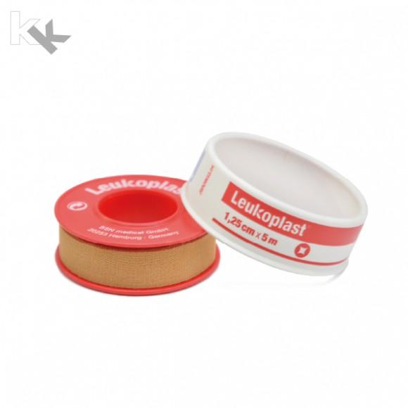Leukoplast® | Fixierpflaster | 1,25 cm x 5 m Rolle | Mit Schutzring