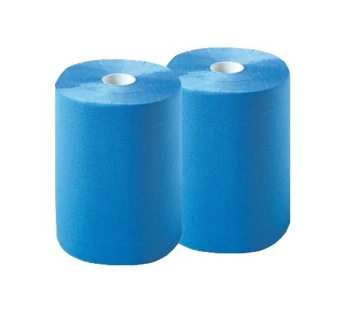 Multiclean® Putztuchrollen | Blau | 2-lagig | 36 cm x 36 cm | 2 Rollen/Beutel