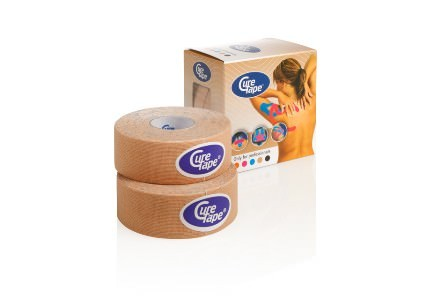 CureTape® Kinesiologie Tape Haut   2,5 cm x 5 m   2 Rollen/Packung