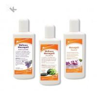KK Wellness Massageöl Set   Amyris-Lavendel   Zitrusfrüchte   Neutral   3 x 250 ml