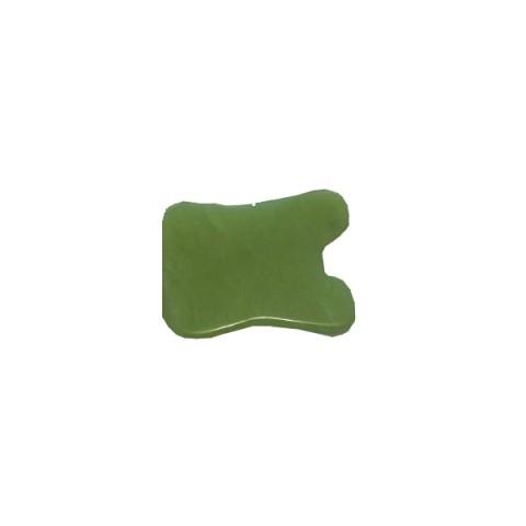 Gua Sha Schaber aus Jade rechteckig