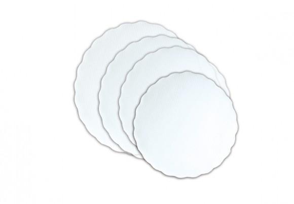 Plattenpapier | Ø 28 | Weiß | 500 Stück