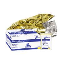 Rettungsdecke   160 x 210 cm   Gold/Silber   50 Stück/Packung