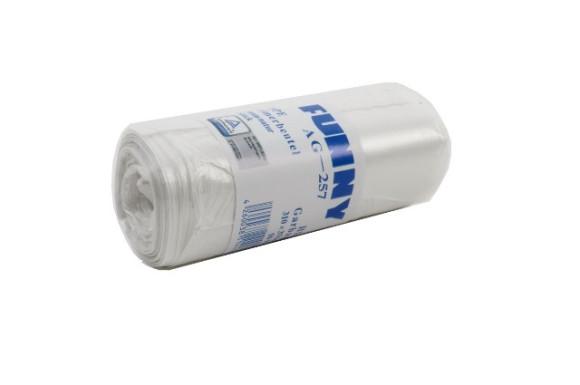 Müllbeutel für Kosmetikeimer | ca.10 Liter | Transparent | 50 Stück/Rolle