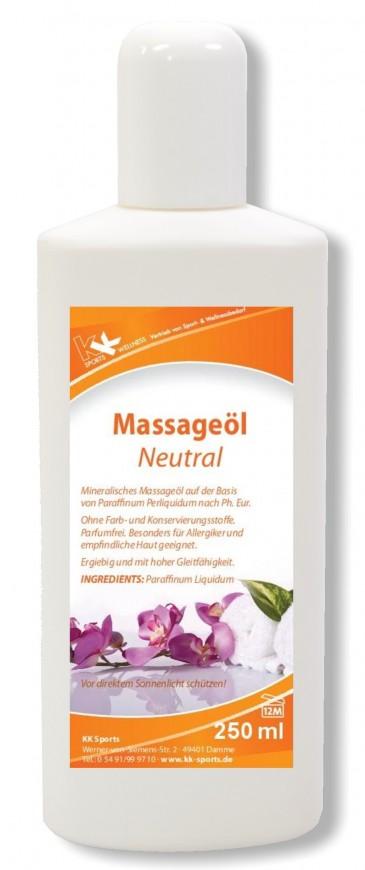 KK Massageöl Neutral 250 ml Flasche