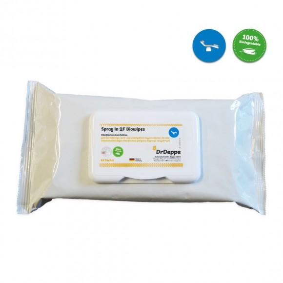 Flächen - Desinfektionstücher   80 Stück   QF- Bio-Wipes   Hygienetücher  