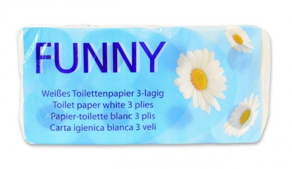Toilettenpapier | 3-lagig | Weiß | 72 Rollen/Beutel | AG-014