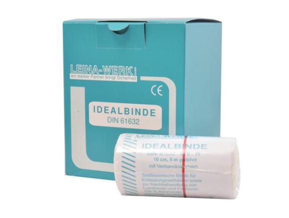 Idealbinden | 12 cm x 5 m | Weiß | 10 Stück | Einzeln verpackt in Faltschachtel