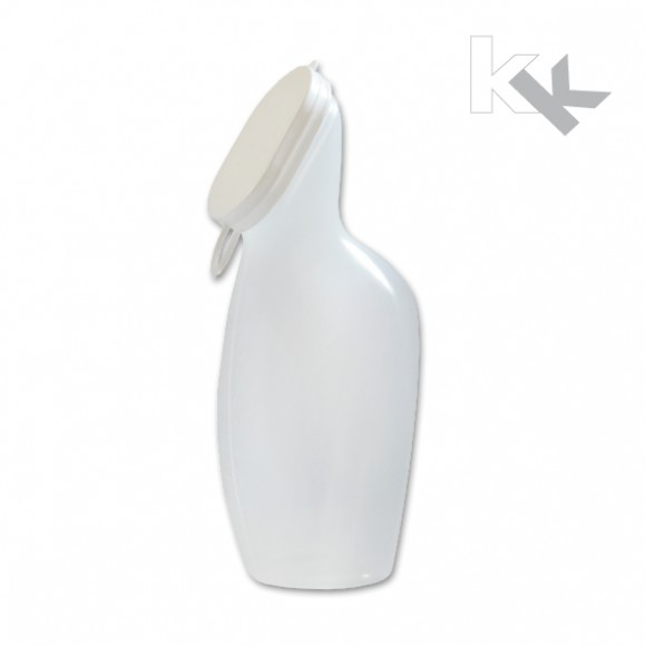 Sundo   Urinflasche für Frauen   Mit Deckel   Milchig-transparent   47250