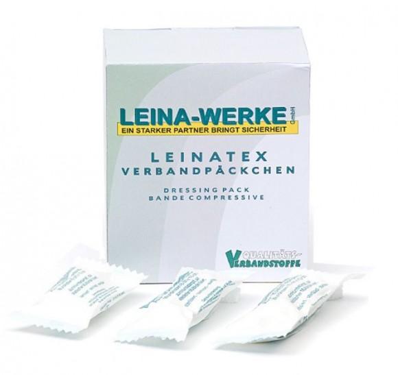 LEINATEX Verbandpäckchen | 10 cm x 12 cm | Karton mit 15 Stück
