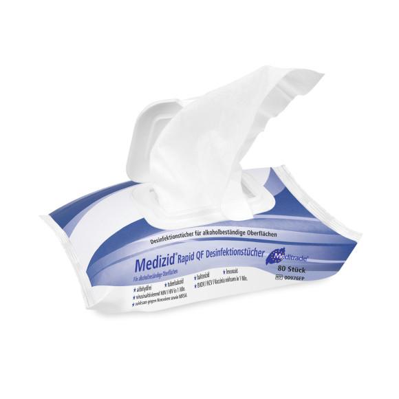 Meditrade Medizid® Rapid QF Flowpack   Desinfektionstücher   80 Tücher