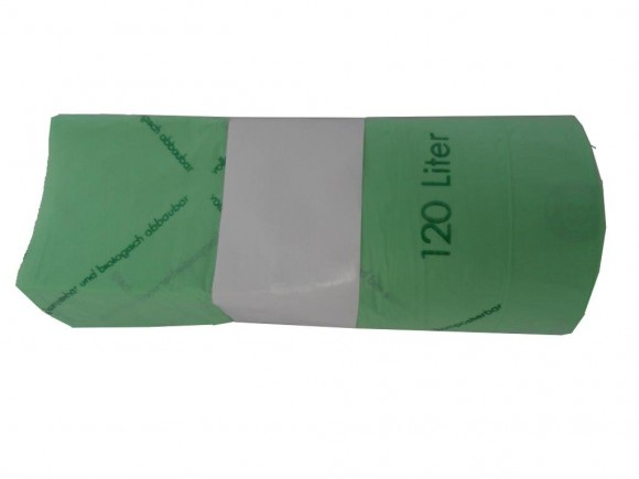 Inlettsack Biomüllbeutel   120/140 Liter   10 Stück/Rolle