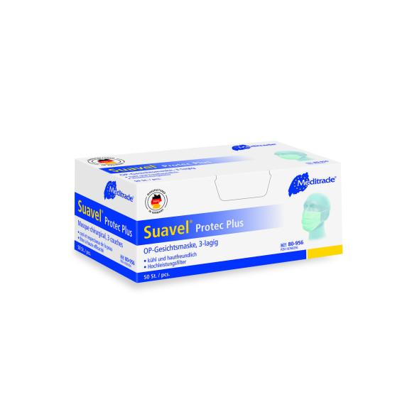 Suavel® Protec Plus   OP-Mundschutz   3-Lagig   Grün   50 Stück/Packung