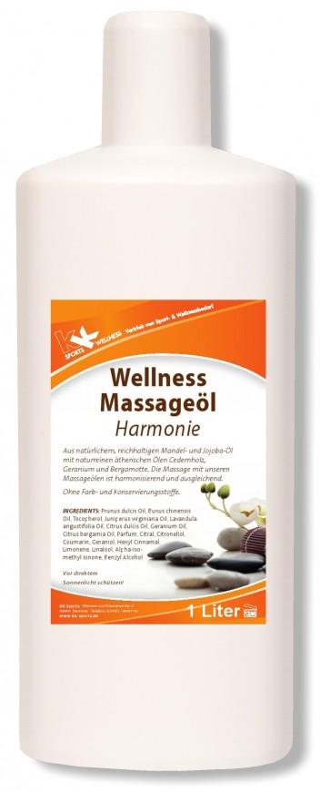 KK Wellness Massageöl Harmonie 1 Liter Flasche