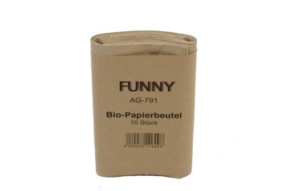 Bio Papiermüllbeutel   ca. 10 Liter   10 Stück/Bündel